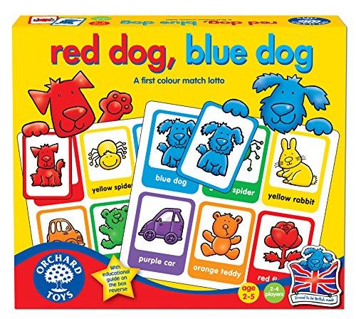 Orchard Toys Red Dog, Blue Dog - Juego educativo para aprender los colores