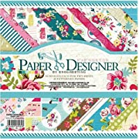 Set of 40 Thick Beautiful Pattern Design Printed Papers for Art n Craft, Size: 8x 8 Inch - 20 Unique Designs (2 Sheets PerDesign) - Theme: Sweet Life