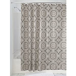 interdesign medallion fabric shower curtain