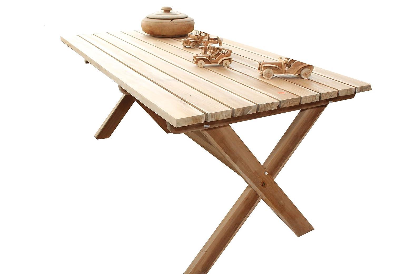 Gartenmöbel Hochwertiger Teaktisch Gartentisch 160x90x75 online bestellen