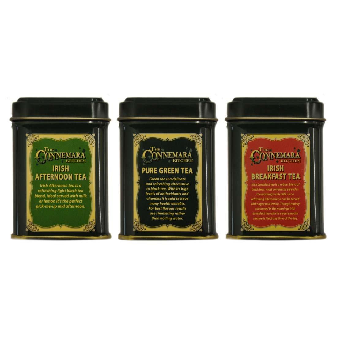 Connemara Kitchen 3 Set Of Mini Tea Tins 0