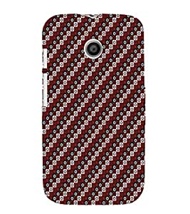 iFasho multi color Triangle rectangle and circle Pattern Back Case Cover for MOTO E