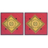 DollsofIndia Two Pieces Printed Cotton Cushion Covers - Cotton - B013I7WC0C