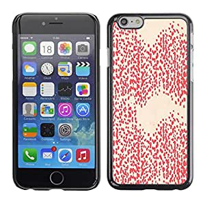 Omega Covers - Snap on Hard Back Case Cover Shell FOR Iphone 6/6S (4.7 INCH) - Pink Peach Pattern Dots Abstract