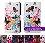 32nd® Design book wallet PU leather case cover for Sony Xperia SP (M35h) - Colour Butterfly