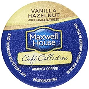 Maxwell House Cafe Collection Vanilla Hazelnut Coffee Single Serve Cups (18 Count Box)