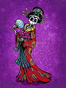 Amazon.com: La Geisha by David Lozeau Japanese Skeleton in Kimono