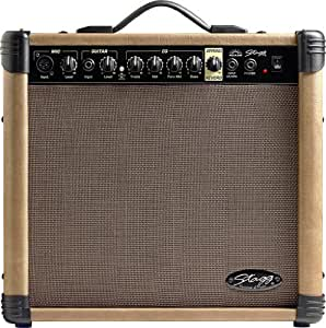 Stagg 40 AA R 40 Watt RMS Acoustic Guitar Amplifier with Spring Reverb available at Amazon for Rs.28615