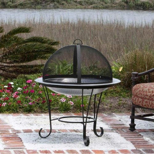 Backyard Fire Pit Grill : NEW! Outdoor Fire Pit, Stainless Steel Patio Camping Grill Wood Stove