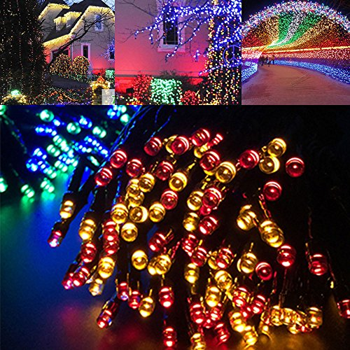 Led string lights solar christmas lights 39ft 100 led 8 modes led string lights solar christmas lights 39ft 100 led 8 modes ambiance lighting for outdoor patio aloadofball Choice Image