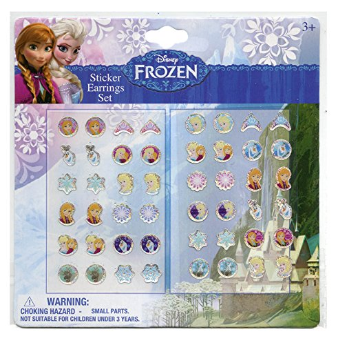 Disney Frozen Girls 24 Pair Sticker Earrings (Pack of 3) - 1