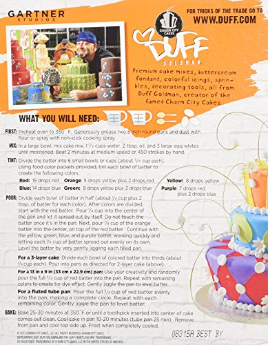 Duff Tie Dye Cake Mix Directions
