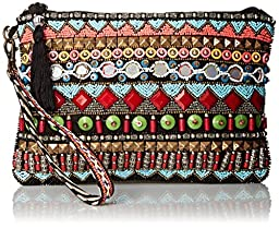 BIG BUDDHA Bonita Wristlet, Blue/Multi, One Size