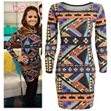 Womens Multicoloured Tribal Aztec Print Bodycon Dress