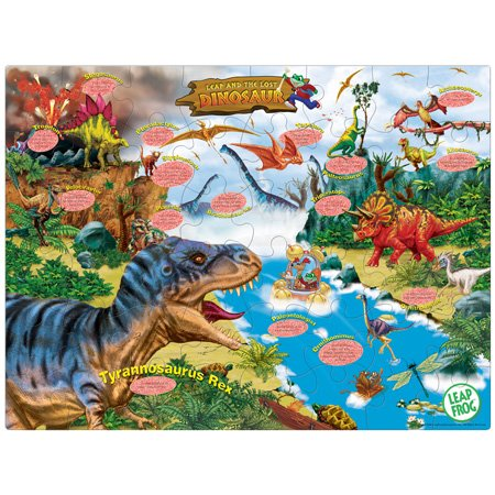 Cheap Master Pieces Leap Frog Dinosaur Fun Facts Floor Puzzle 48pc (B000JVWPO4)