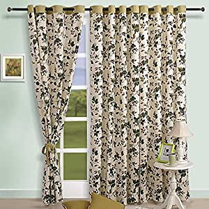 Buy cotton floral pattern window curtains 54 x 60 inch for living room set of 2 panels online at - Amazon curtains living room ...