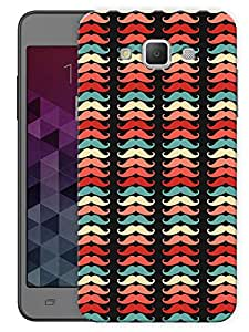 """Humor Gang All Moustaches In A Line Printed Designer Mobile Back Cover For """"Samsung Galaxy A3"""" (3D, Matte, Premium Quality Snap On Case)"""