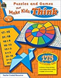 img - for Puzzles and Games that Make Kids Think Grd 4 book / textbook / text book