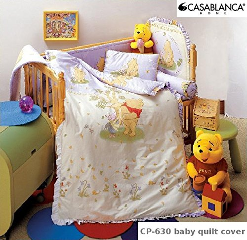 "Disney Classic Winnie The Pooh Cp630 Baby Quilt Cover (35"" X 48"") (330 Threads / 10Cm Squared) 100% Cotton front-991558"