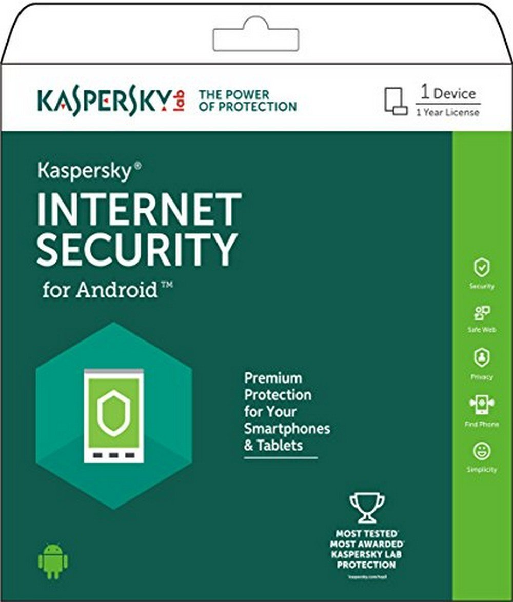 Kaspersky Internet Security for Android - 1 Device, 1 Year (voucher) By Amazon @ Rs.75