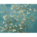 Vitalwalls Branches Of An Almond Tree Painting (Static-243-F-45, Canvas Print, 45 Cm X 35.5 Cm)