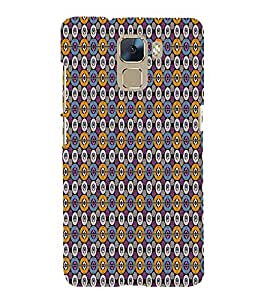 Abstract Art 3D Hard Polycarbonate Designer Back Case Cover for Huawei Honor 7