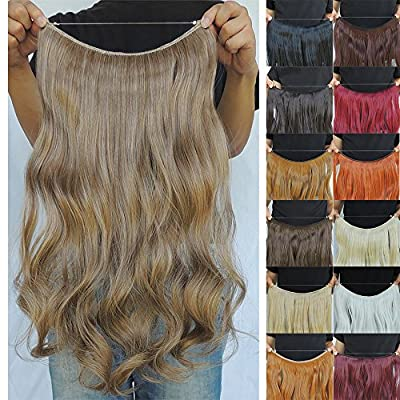 Secret Halo Hair Extensions Flip in Curly Wavy Hair Extension Synthetic Women Hairpieces 20""