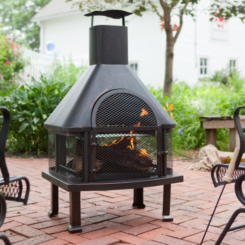 Red Ember Red Ember Wellington 4 Ft. Fireplace With Cover, Steel