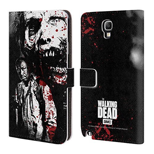 Ufficiale AMC The Walking Dead Morgan E Lurker Sangue Cover a portafoglio in pelle per Samsung Galaxy Note 3 Neo