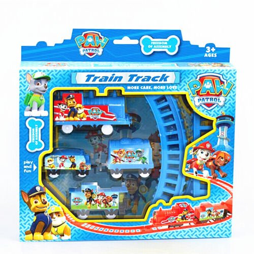 Cute TV Character PAW PATROL Figures Electric Train Track Kids Children Baby Toy (Baby First Tv Characters)