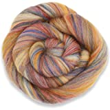 4 oz Paradise Fibers Multi-Colored Merino Wool Roving - Sandalwood (Color: orange multicolored, Tamaño: 4 ounces)