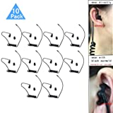 Replacement Coil Tube, Black Twist On Acoustic Audio Tube with Earbuds Eartips Compatible for Motorola Midland Kenwood Two Way Radio, Pack of 10, by Lsgoodcare (Color: 10PCS)