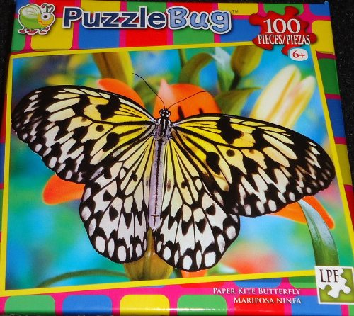 PuzzleBug 100 Piece Puzzle ~ Paper Kite Butterfly - 1