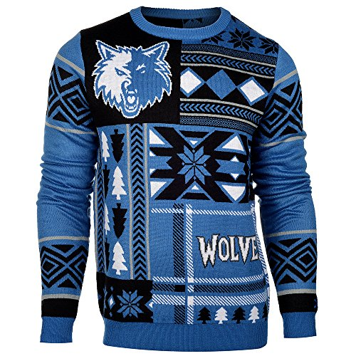 NBA Minnesota Timberwolves Patches Ugly Sweater