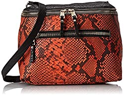 Ash Sasha Cross Body Bag, Orange/Black, One Size