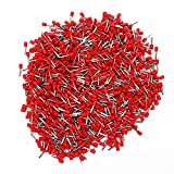 Copper Insulated Cord End Terminals Red 14AWG E2512 Pack Of 1000