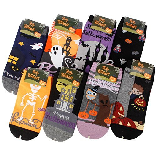 Assorted Halloween Ankle Socks