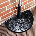 Sonnenschirmständer halbrund für Balkone oder Terrassen Gießharz 8,5 kg Schwarz von PureDay bei Gartenmöbel von Du und Dein Garten