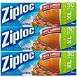 Ziploc Sandwich Bags Xl 30 ct (Pack Of 3)