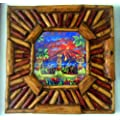 Polynesian Dancers in Wood Frame