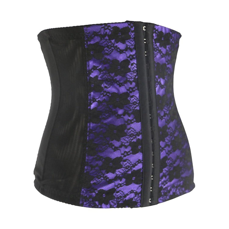 LINGERIE: Korsett underbrust – zur der Verringerung der Taille und Oberkörper – mit Spitze bestickt –  lila – kaufen