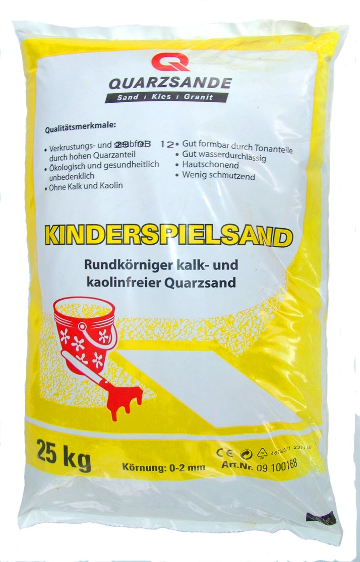 Spielsand Kinderspielsand TÜV geprüft TOP Qualität Quarzsand CE online bestellen