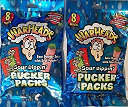 Warheads Sour Dippin\' Pucker Packs (16 Ct) 4.8 Oz