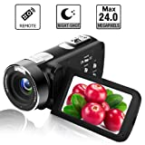 Camcorder Digital Camera Full HD 18X Digital Zoom Night Vision Video Camcorder with LCD and 270 Degree Rotation Screen with Remote Control (Color: B3)