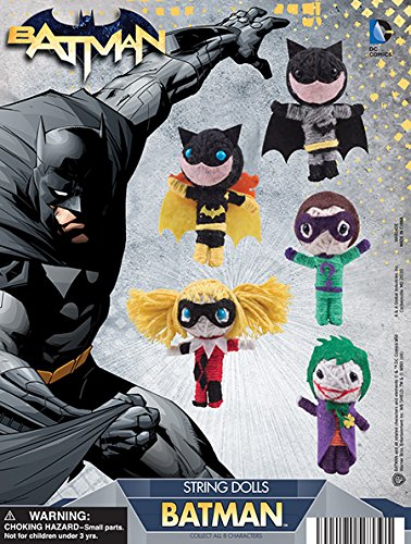 DC Comics Batman String dolls Set of 8 ( Batman, Robin, Catwoman, Riddler, Harley Quinn and more...)