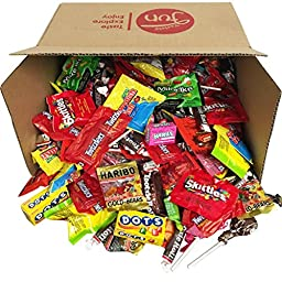 Happy Halloween Trick or Treat Candy Assortment In Gift Box Includes Life Savers, Mike & Ike, Dots, Skittles, Twizzlers, Sour Patch, Tootsie Rolls & More (96 oz)