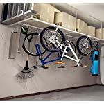 Fleximounts 4x8 Overhead Garage Rack with Add-on Hooks Set Heavy Duty Height Adjustable Ceiling Racks (22-40