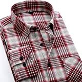 Simple Flavor 男のシャツ 無地 長袖 綿コットン カジュアルシャツ 2016秋冬 チェックシャツ
