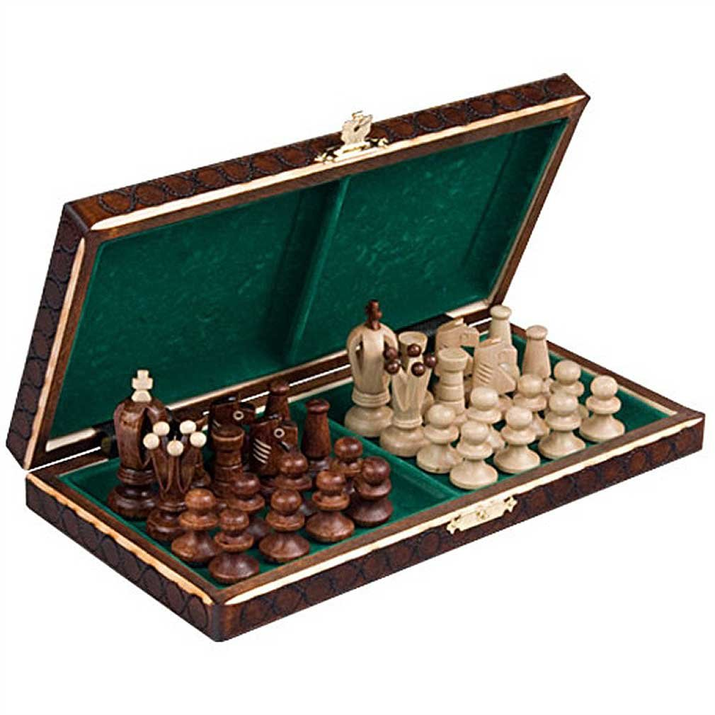 Chess Royal 30 European Wooden Handmade International Set, 11.81 x 1.97-Inch 2