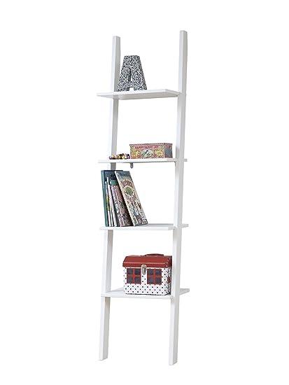 eclettica libreria in legno laccata